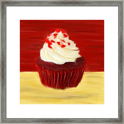 Red Velvet Framed Print by Lourry Legarde
