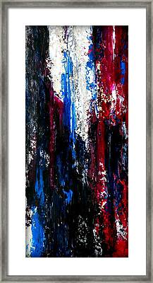 Red Velvet Operetta Vertical Painting Framed Print by Holly Anderson