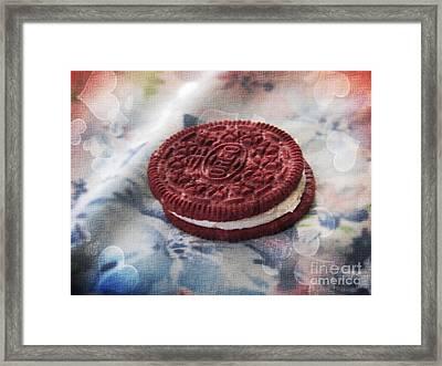 Red Velvet Oreo Cookie Romance Framed Print by Shelly Weingart