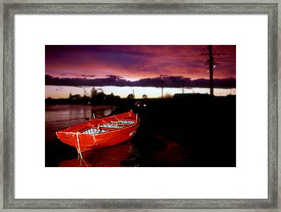 Red Vessel Framed Print by Sandro Rossi