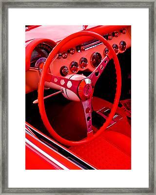 Red Vette Framed Print by Phil 'motography' Clark