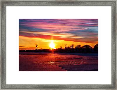 Red Vs Blue Framed Print by Matt Molloy