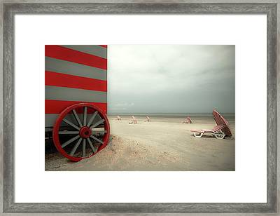 Red Wagon Framed Print