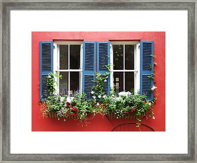 Red Wall Framed Print by James McAdams