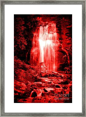 Red Waterfall Framed Print