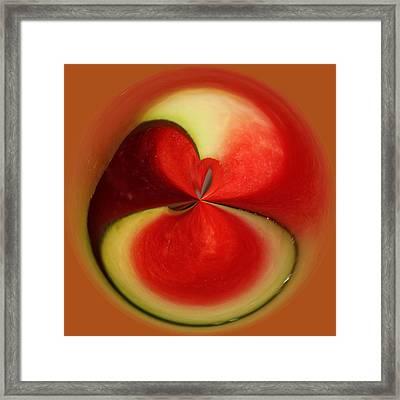 Red Watermelon Framed Print by Cynthia Guinn