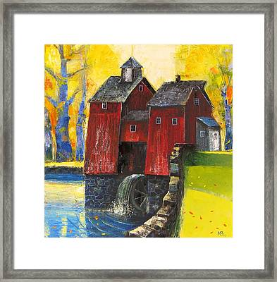 Red Watermill Framed Print by Mikhail Zarovny