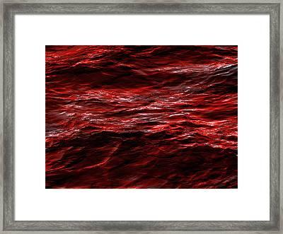 Red Waves Framed Print by Dennis James