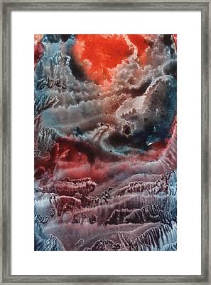 Red Waves Framed Print