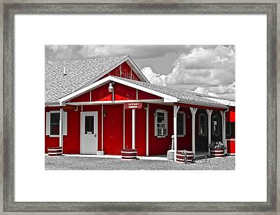Red White And Black Framed Print by Frozen in Time Fine Art Photography