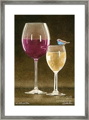 Red White And Bleu... Framed Print