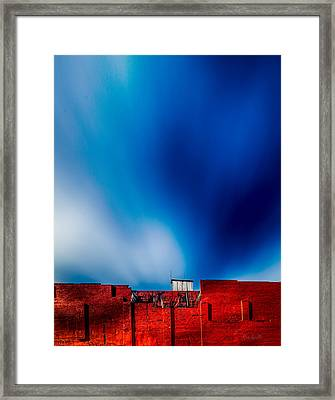 Red White And Blue Framed Print by Bob Orsillo