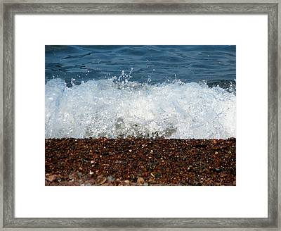Red White And Blue Framed Print by Bridget Johnson