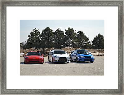 Red White And Blue Framed Print by Cim Paddock