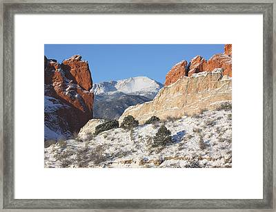 Red White And Blue Framed Print by Eric Glaser