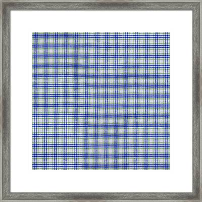 Red White And Blue Plaid Fabric Background Framed Print by Keith Webber Jr