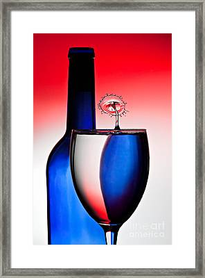 Red White And Blue Reflections And Refractions Framed Print by Susan Candelario