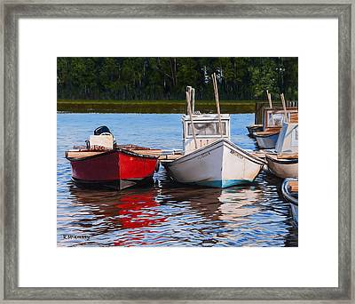 Red White And Blue Framed Print by Rick McKinney