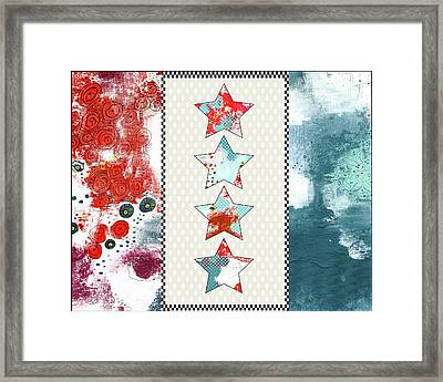 Red White And Blue Framed Print by Sarah Ogren