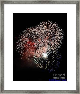 Red White And Blue Symphony Framed Print