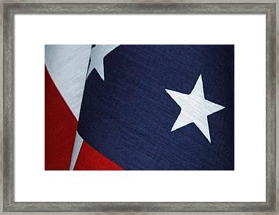 Flag Framed Print by Tam Ryan