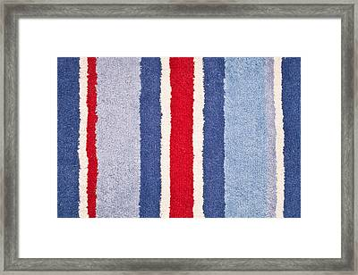 Red White And Blue Framed Print by Tom Gowanlock