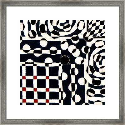 Red White Black Number 2 Framed Print by Carol Leigh