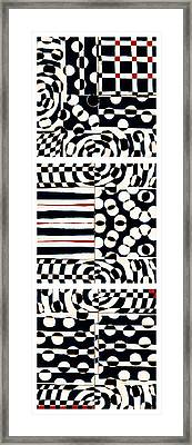 Red White Black Number 4 Framed Print