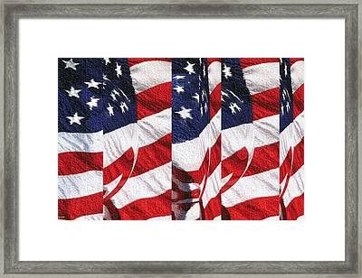 Red White Blue - American Stars And Stripes Framed Print