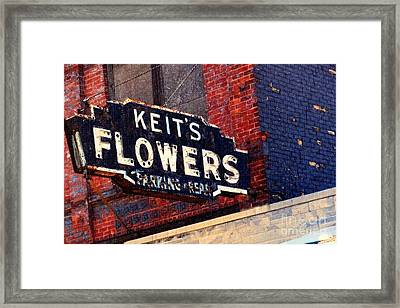 Red White Blue And Rusty Framed Print