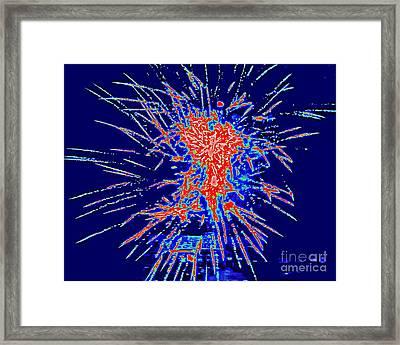 Red White Blue Framed Print by Shelia Kempf