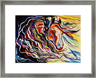 Red Wind Wild Horse Framed Print