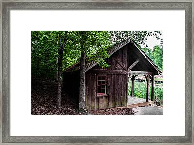 Red Window Framed Print by Shelby  Young