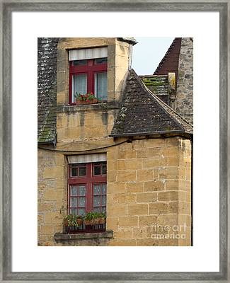 Framed Print featuring the photograph Red Windows by Paul Topp