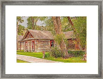 Red Windows Framed Print by Sue Smith