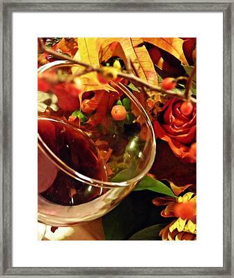 Red Wine 2 Framed Print by Sarah Loft