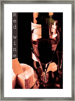 Red Wine And Glass Framed Print by Tommytechno Sweden