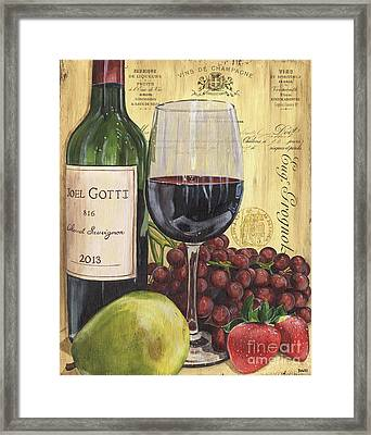 Red Wine And Pear Framed Print by Debbie DeWitt