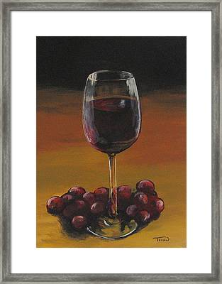 Red Wine And Red Grapes Framed Print by Torrie Smiley