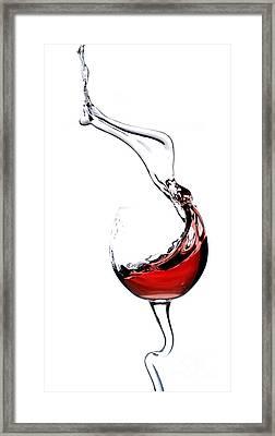Red Wine Framed Print by Andreas Berheide