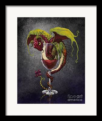 Wine-glass Digital Art Framed Prints