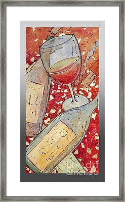 Red Wine I Framed Print by Cynthia Parsons