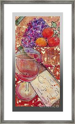 Red Wine II Framed Print by Cynthia Parsons