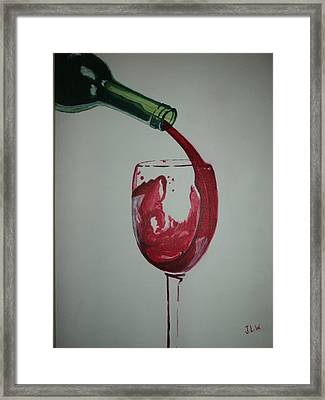 Framed Print featuring the painting Red Wine by Justin Lee Williams