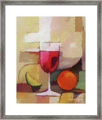 Red Wine Framed Print by Lutz Baar