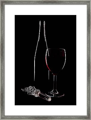 Red Wine Framed Print by Marcia Colelli