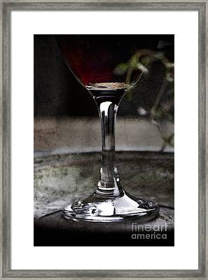 Red Wine Framed Print by Mythja  Photography