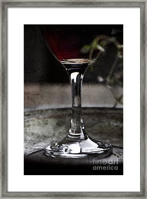 Red Wine Framed Print by Mythja  Photography