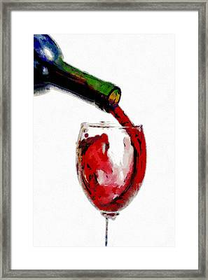 Red Wine Pouring Framed Print