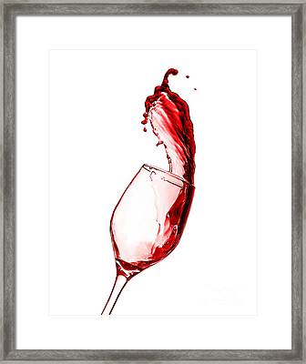 Red Wine Splash Framed Print